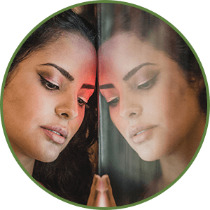 Tips for Forgiving Yourself  - Flip The Situation Around - Woman Looking in Mirror