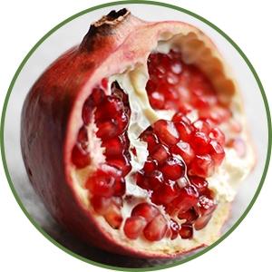 Pomegranate fruit broken open - Anti-aging benefits of Pomegranate